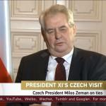 Zeman v rozhovoru pro čínskou televizi: Česká republika konečně prohnula páteř na správnou stranu
