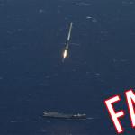 Další podvod USA: Video, zachycující přistání rakety Falcon 9 na plošině v oceánu je podvod